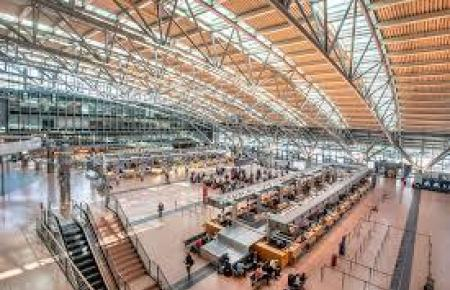 Blick in den Flughafen von Hamburg.