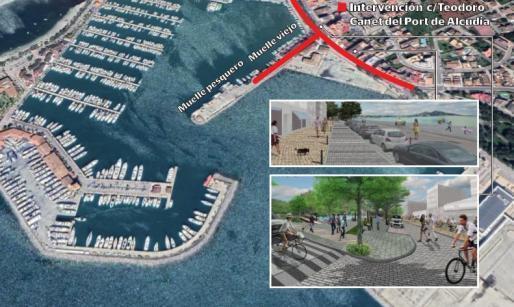 Mehr Platz für Fußgänger soll in Zukunft am Hafen von Port d´Alcúdia herrschen.