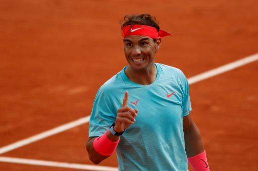 Rafael Nadal in bester Stimmung in Paris.
