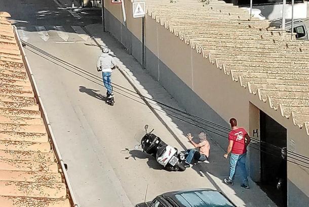 Foto von dem Vorfall.