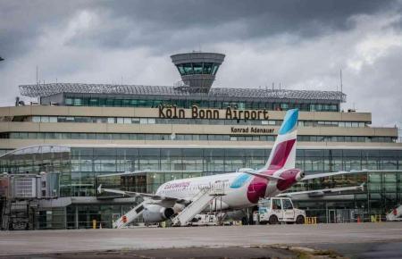 Blick auf den Flughafen Köln/Bonn.