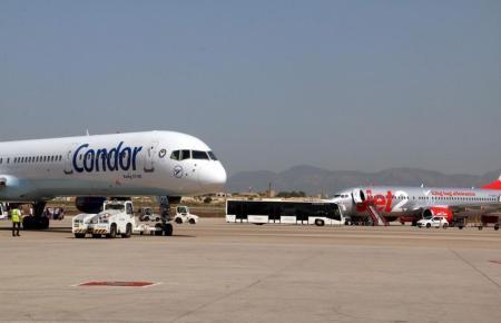 Condor-Jet auf dem Flughafen von Palma de Mallorca.