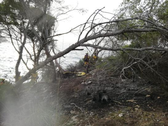 So sah es nach dem Feuer an der Caló des Moro aus.