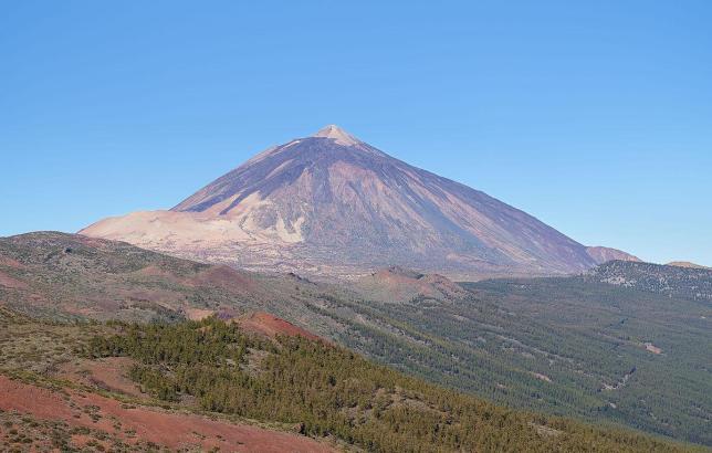 Der Vulkan Teide auf Teneriffa.