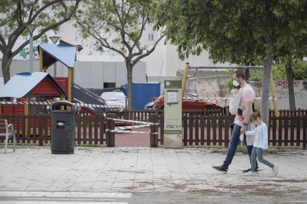 Spielplätze sind derzeit auf den Balearen geschlossen.