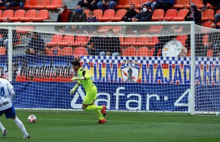 Atlético-Baleares-Keeper Juan Carlos Sánchez machte trotz der beiden Gegentreffer ein gute Spiel.