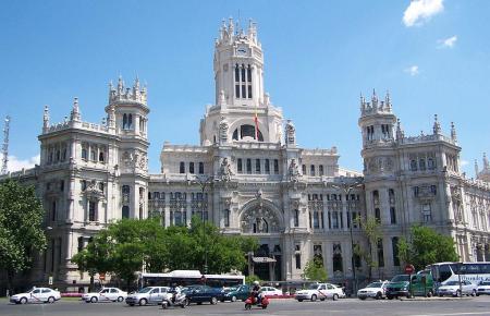 Der Palacio de Cibeles in Madrid.