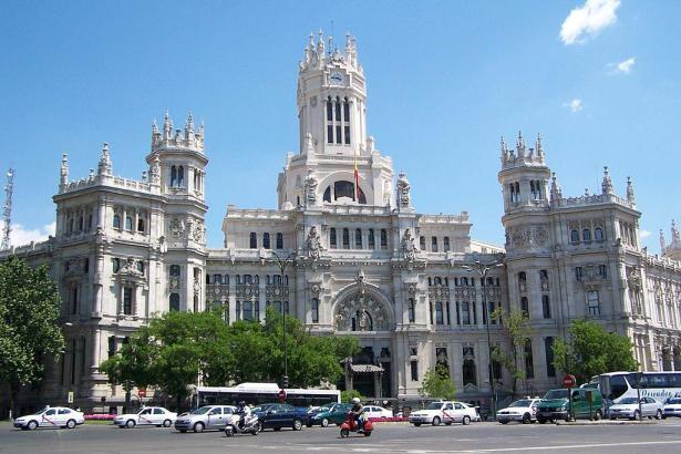 Der Palacio de Cibeles in Madrid.