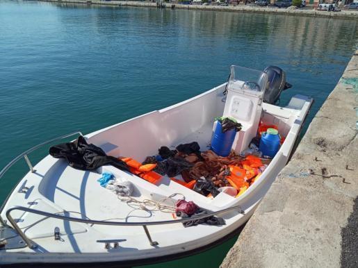 Die Aufnahme das nach Portocolom gelangte Boot.