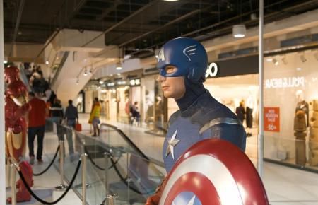 Auch Captain America kann man im Porto Pi Centro treffen.
