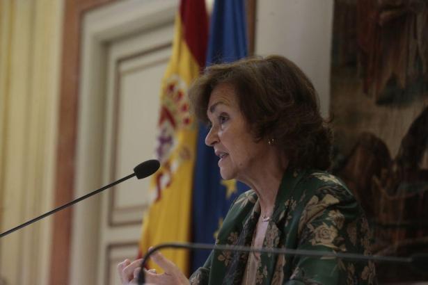 Spaniens Vizeregierungschefin Carmen Calvo.
