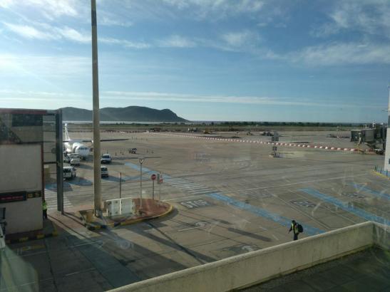 Die Maschine startete vom Flughafen auf Ibiza.