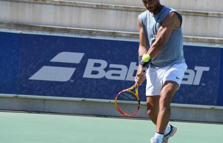 Rafael Nadal beim Training auf dem Gelände seiner Tennisakademie in Manacor.