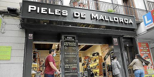 Das Foto zeigt eine der Filialen des Lederwarenkette Pieles de Mallorca in Palma.