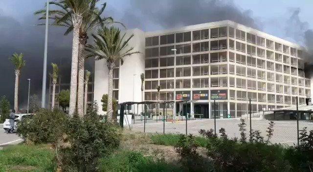 Brand im Parkhaus des Flughafens von Palma de Mallorca.
