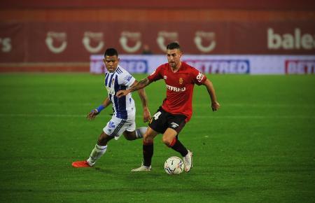 """Mit seinen zwei Toren wurde Dani Rodríguez gegen Ponferradina zum Mann des Spiels bei den """"Roten""""."""