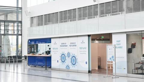 """Das """"Test & Fly""""-Zentrum im Flughafen München."""