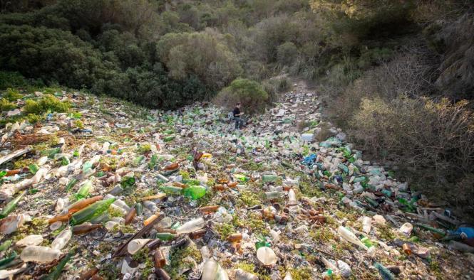 So sieht die illegale Müllkippe aus.