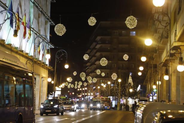 Weihnachtsbeleuchtung in Palma in einem der vergangenen Jahre.