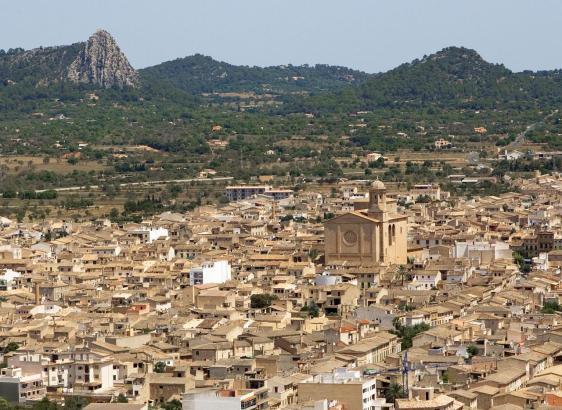Luftbild von Llucmajor.