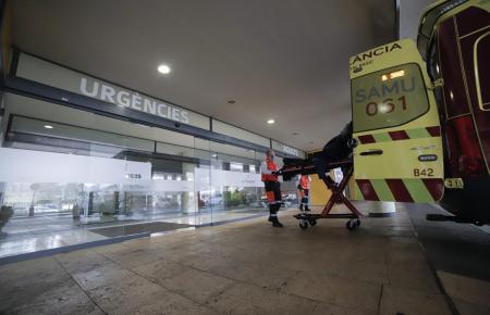 Blick auf den Eingang des Krankenhauses Son Espases.