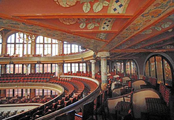 """Einer der schönsten Konzertsäle der Welt: Der """"Palau de la Música Catalana""""."""