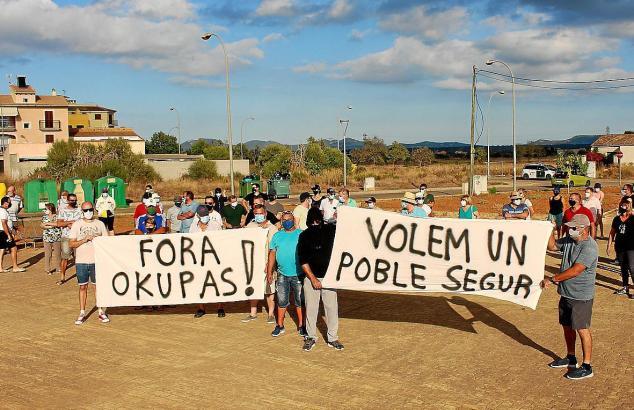 Anti-Okupa-Protest auf Mallorca.
