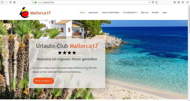 Auf der Homepage www.mallorca17.de erläutert das Unternehmen seine Philosophie.