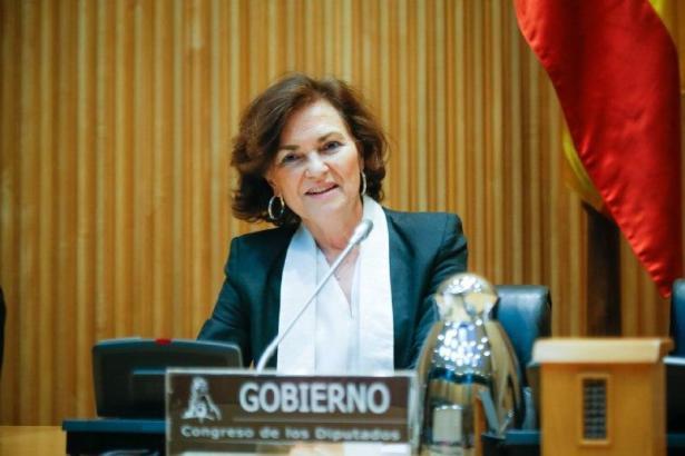 Carmen Calvo ist die Stellvertreterin von Spaniens Ministerpräsident Pedro Sánchez.