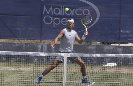Rafael Nadal beim Training auf Mallorca.