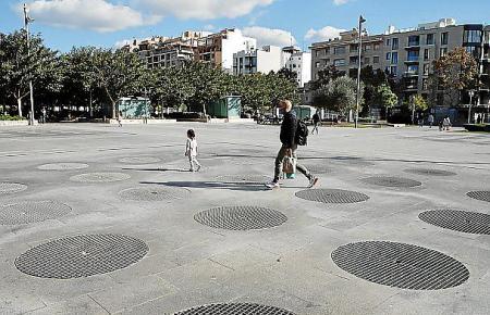 Die Brunnenanlage im Parc de Ses Estacions.