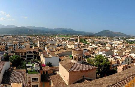 Blick über die Dächer von Sa Pobla.