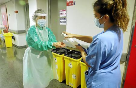 Gesundheitspersonal im Einsatz auf Mallorca.
