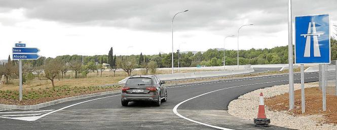 Neue Autobahnauffahrt in Marratxí.