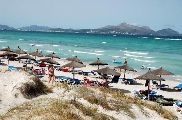 Mallorca Karte Playa De Muro.Strande Calas Buchten Playa De Muro