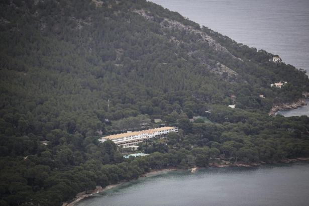 Luftbild vom Hotel Formentor.