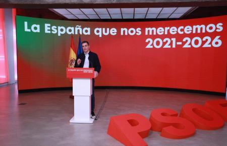 Sánchez rief die Bürger dazu auf, an Weihnachten Vorsicht walten zu lassen.