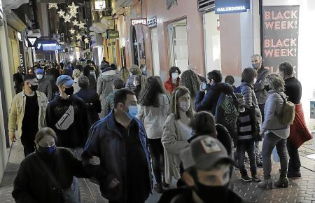 So voll wie in den Vorjahren war es in Palmas Einkaufsstraßen nicht.