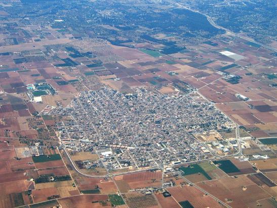 Luftbild von Sa Pobla.