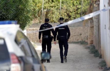 Beamte der Nationalpolizei im Einsatz auf Mallorca.