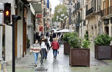 Fußgängerzone in Palma de Mallorca.