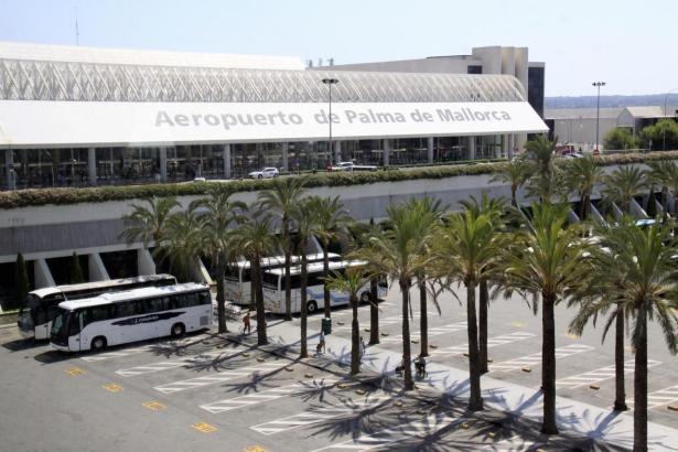 Blick auf den Flughafen von Palma de Mallorca.