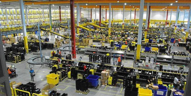 Amazon-Logistikzentrum in Madrid.