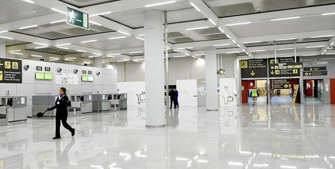 Im Flughafen von Palma ist derzeit nicht viel los.