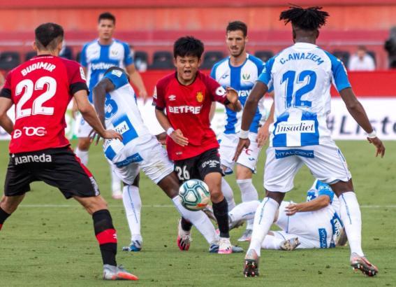 Real Mallorca und Leganés in Aktion.