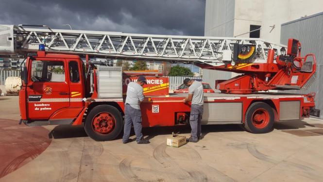 Feuerwehr-Mitarbeiter auf Mallorca.