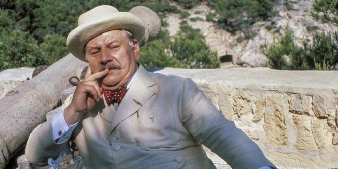 Peter Ustinov in einer Filmszene.