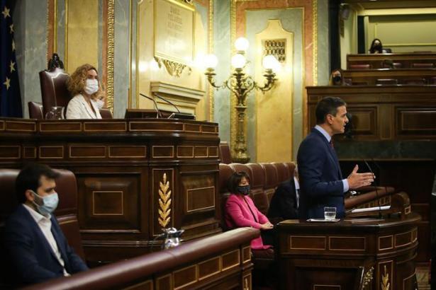 Premier Sánchez jüngst im spanischen Abgeordnetenhaus.