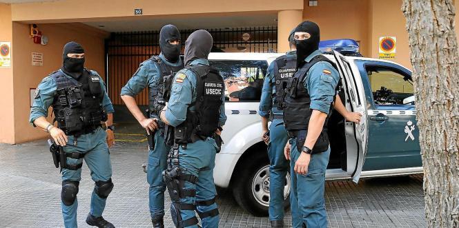 Polizisten in Spanien