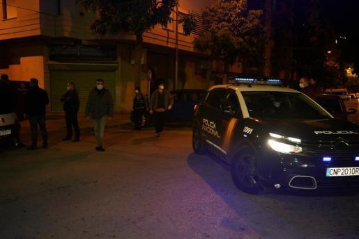 Polizeieinsazt in der Silvesternacht in Palmas Wohnviertel Camp Redó.